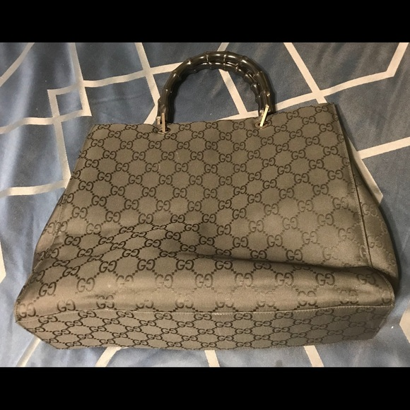 c1274cb84418 Gucci Bags | Gg Bamboo Nylon Tote Bag | Poshmark